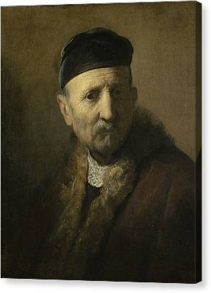 Tronie Of An Old Man Canvas Print by Rembrandt