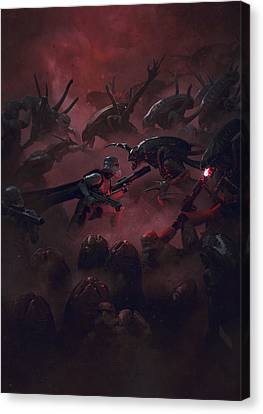 Troopers Vs Space Cockroaches 6 Canvas Print by Guillem H Pongiluppi