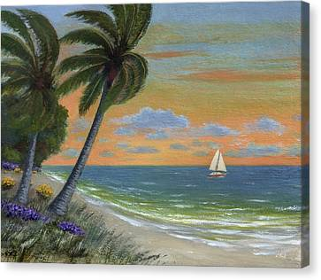 Canvas Print featuring the painting Tropic Breeze by Gordon Beck