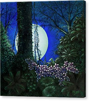 Canvas Print featuring the painting Tropic Moon by Michael Frank