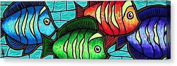 Tropic Swim Canvas Print by Jim Harris