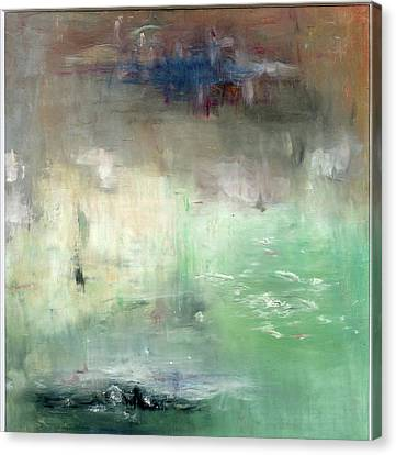 Canvas Print featuring the painting Tropic Waters by Michal Mitak Mahgerefteh