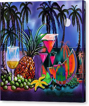 Tropica6 Tranquil Evening Canvas Print by Steve Farr