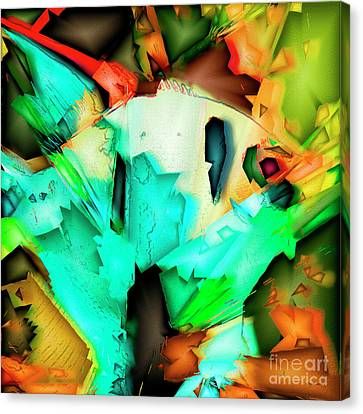 Tropical Angel Fish In Abstract 20170325v5 Square Canvas Print