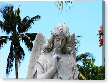 Tropical Angel With Tear Canvas Print