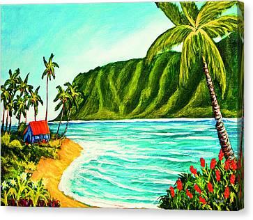 Tropical Beach #361 Canvas Print by Donald k Hall