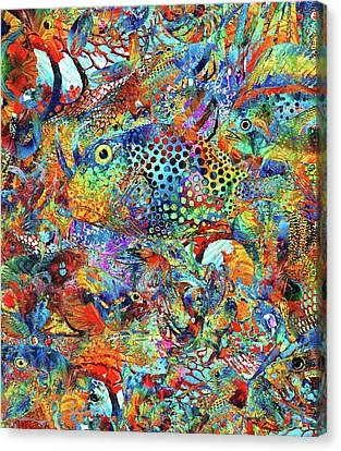 Tropical Beach Art - Under The Sea - Sharon Cummings Canvas Print by Sharon Cummings
