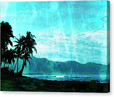 Tropical Beach Canvas Print by Skip Nall