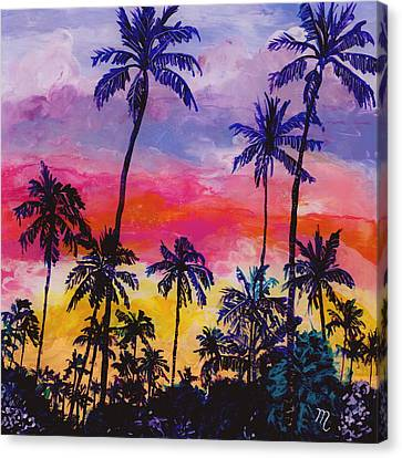 Tropical Coconut Trees Canvas Print