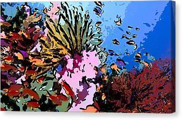 Tropical Coral Reef  2 Canvas Print