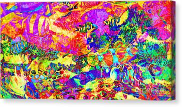 Tropical Coral Reef Fish In Abstract 20160923 Long Canvas Print