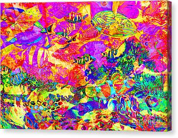 Tropical Coral Reef Fish In Abstract 20160923 Canvas Print