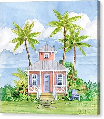 Tropical Cottage I Canvas Print
