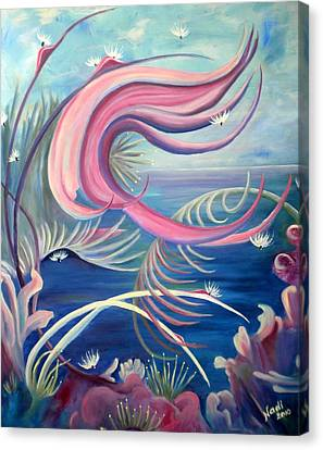 Canvas Print featuring the painting Tropical Dancer by Renate Nadi Wesley