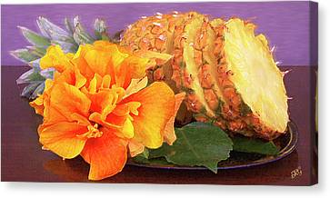 Canvas Print featuring the photograph Tropical Delight Still Life by Ben and Raisa Gertsberg