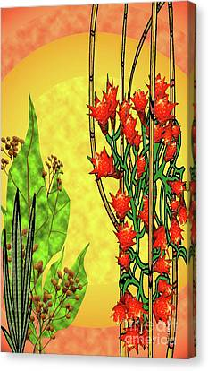 Tropical Firecracker Canvas Print by Charles Pulley