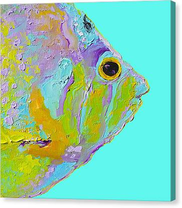 Tropical Fish For Coastal Decor Canvas Print by Jan Matson