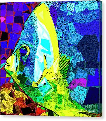 Canvas Print featuring the photograph Tropical Fish In Abstract 20170325v3 Square by Wingsdomain Art and Photography