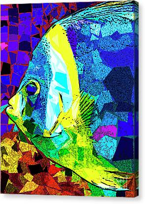 Canvas Print featuring the photograph Tropical Fish In Abstract 20170325v3 by Wingsdomain Art and Photography