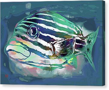 Tropical Fish - New Pop Art Poster Canvas Print by Kim Wang