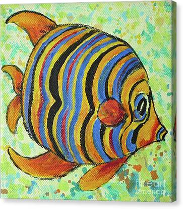 Tropical Fish Series 4 Of 4 Canvas Print by Gail Kent