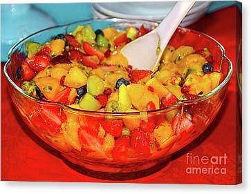 Tropical Fruit Salad By Kaye Menner Canvas Print by Kaye Menner