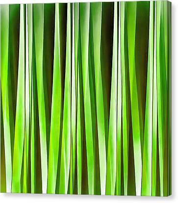 Tropical Green Riverweed Canvas Print