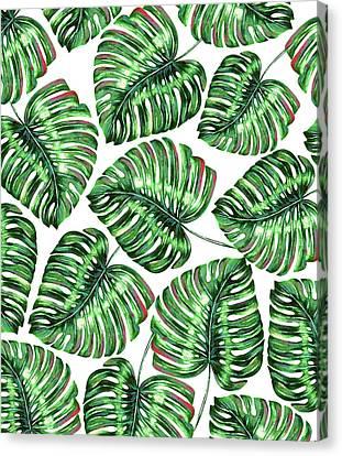 Tropical Greenery Canvas Print