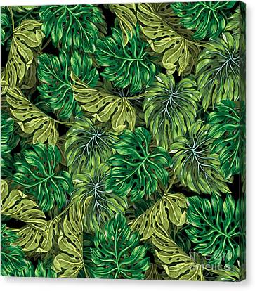 Leaves Canvas Print - Tropical Haven 2 by Mark Ashkenazi