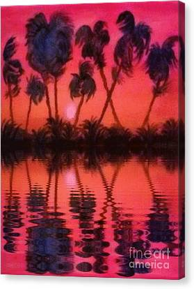 Tropical Heat Wave Canvas Print by Holly Martinson