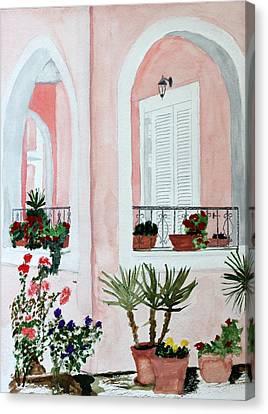 Tropical Home Canvas Print by Cathy Jourdan