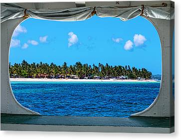 Tropical Island Boat Window View  Canvas Print by James BO Insogna