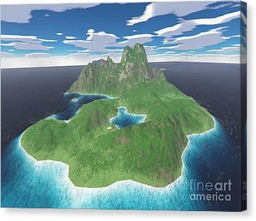 Tropical Island Canvas Print by Gaspar Avila