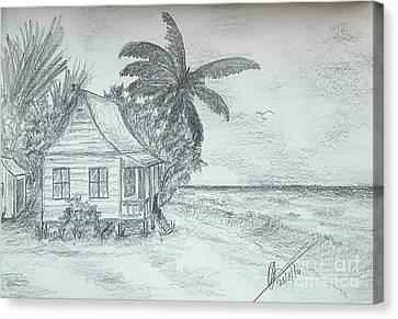 Tropical Island Sea Canvas Print by Collin A Clarke