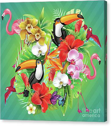 Tropical  Karnaval Canvas Print by Mark Ashkenazi