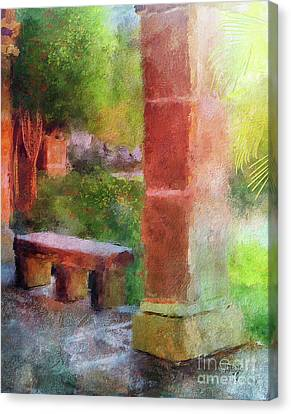 Canvas Print featuring the digital art Tropical Memories by Lois Bryan