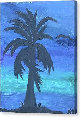 Canvas Print - Tropical Night by Karen Nicholson