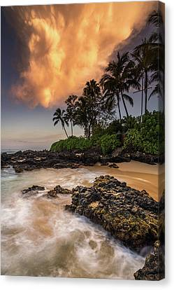 Canvas Print featuring the photograph Tropical Nuclear Sunrise by Pierre Leclerc Photography