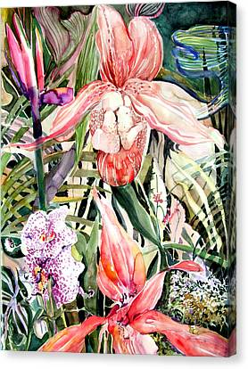 Franklin Park Canvas Print - Tropical Orchids by Mindy Newman