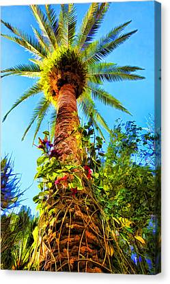 Tropical Palm Tree Painting Canvas Print