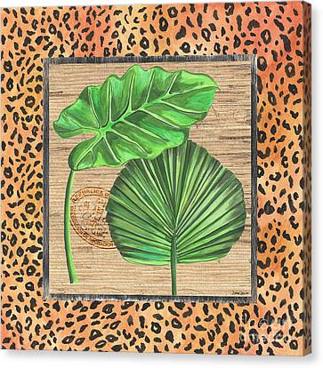 Cheetah Canvas Print - Tropical Palms 1 by Debbie DeWitt