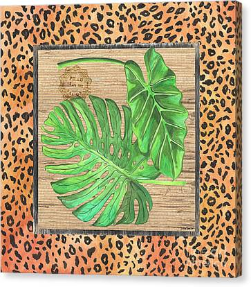 Cheetah Canvas Print - Tropical Palms 2 by Debbie DeWitt