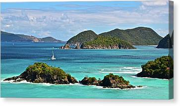 Tropical Panorama Canvas Print by Frozen in Time Fine Art Photography