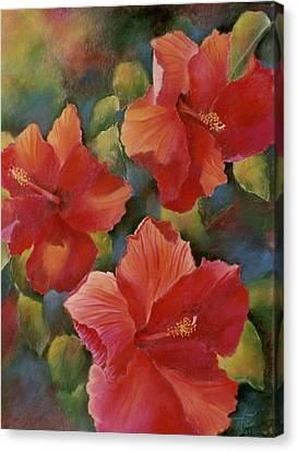 Canvas Print featuring the painting Tropical Punch by Ann Peck