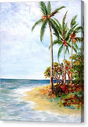 Tropical Retreat And Sandy Feet Canvas Print by Annie St Martin