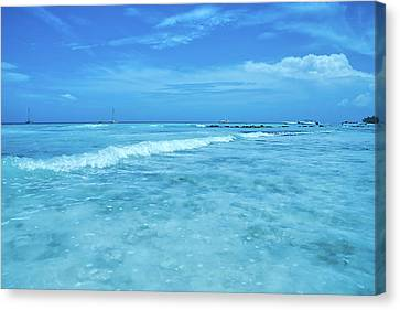 Tropical Seascape In Saona Island Canvas Print