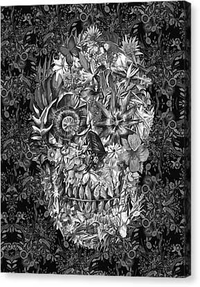 Tropical Skull 3 Canvas Print by Bekim Art