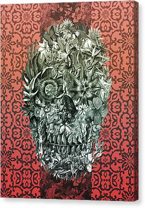 Tropical Skull 4 Canvas Print by Bekim Art