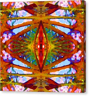 Tropical Stained Glass Canvas Print by Amy Vangsgard