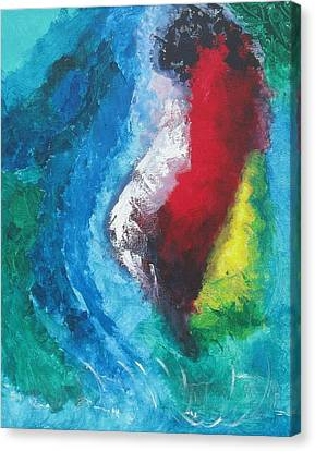 Canvas Print featuring the painting Tropical Storm by Diane Pape